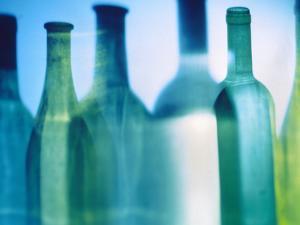 Assorted Wine Bottle Shadows by Ulrike Koeb