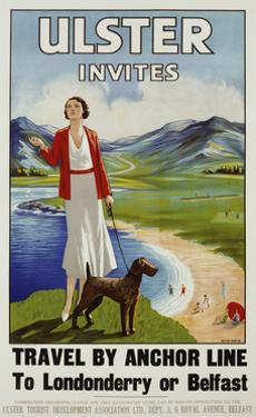 Ulster Invites Travel by Anchor Line Poster