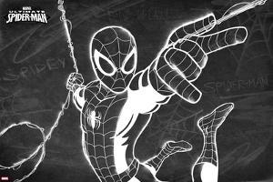 Ultimate Spider-Man Chalkboard