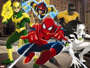 Ultimate SpiderMan - 2014 Team Heroes - Situational Art