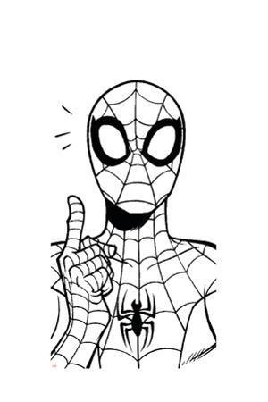 Ultimate SpiderMan - Fall 2013 Panel Line Art