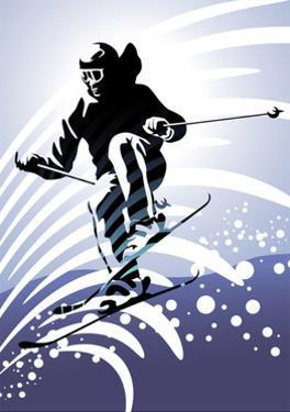 Sport Set: Downhill Skiing by UltraPop