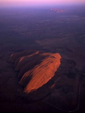 Uluru (Ayers Rock) at Sunrise, Aerial Image