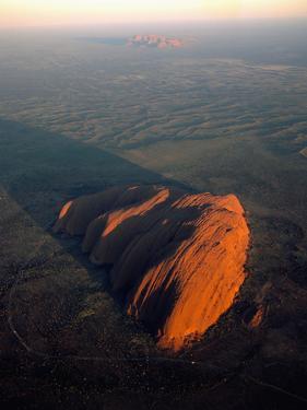 Uluru (Ayers Rock) at Sunrise, Aerial