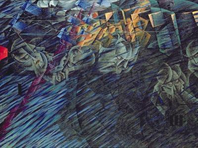 States of Mind: Those Who Go, 1911 by Umberto Boccioni