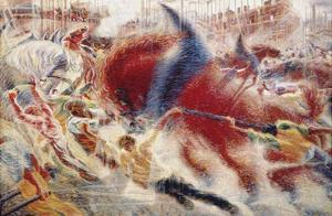 The City Rises, 1910 by Umberto Boccioni