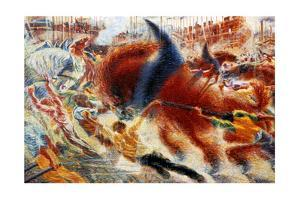 The City Rises, 1911 by Umberto Boccioni