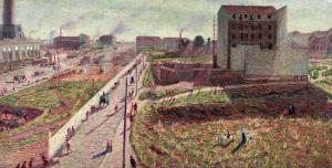 Workshops at Porta Romana, 1908 by Umberto Boccioni