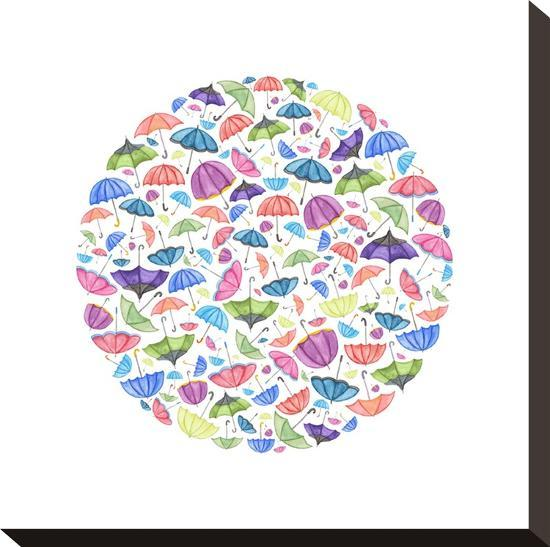 Umbrella Circle-Elena O'Neill-Stretched Canvas