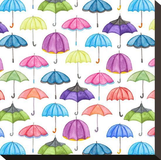 Umbrellas-Elena O'Neill-Stretched Canvas Print