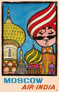 Moscow, Russia - Air India - Saint Basil's Cathedral - Air India's Mascot Maharajah by Umesh Rao
