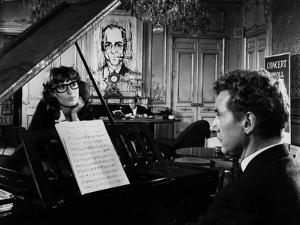 Un Clair by Lune a Maubeuge by JeanCherasse with Bernadette Lafont and Pierre Perr 1962 (b/w photo)
