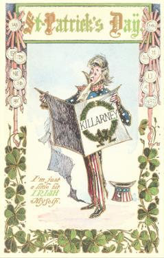 Uncle Sam Celebrating St. Patrick's Day