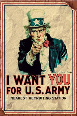 Uncle Sam: I Want You For U.S. Army - Vintage
