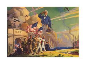 Uncle Sam Viewing Color Guard