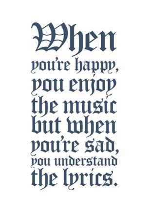 Affordable Music Quotes Posters For Sale At Allposterscom