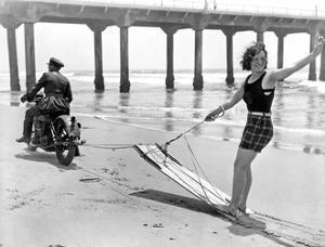 Boarding on Beach by Underwood