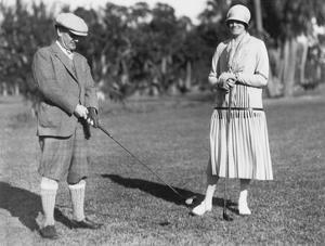Couple Golfing by Underwood