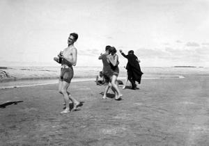 Dancing on Beach by Underwood