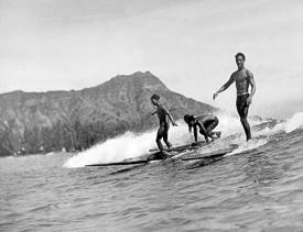 Affordable Surfing (Vintage Photography) Posters for sale at
