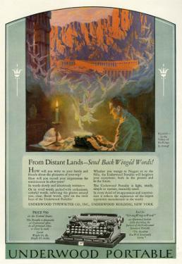 Underwood, Magazine Advertisement, USA, 1920