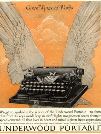 Underwood Portable Typewriters Equipment, USA, 1922