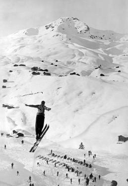 Skier large Jump by Underwood