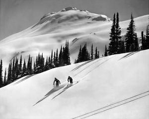 Skiing Beauty on Slopes by Underwood