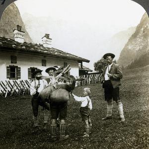 Bavarian Mountaineers, Germany by Underwood & Underwood