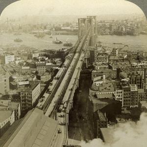 Brooklyn Bridge, New York, USA by Underwood & Underwood