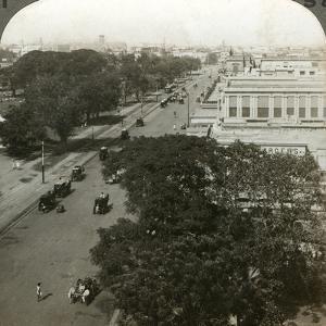 Chowringhee Road, Calcutta, India, C1900s by Underwood & Underwood