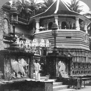 Dalada Maligawa, Palace of Buddha's Tooth, Kandy, Sri Lanka, 1902 by Underwood & Underwood