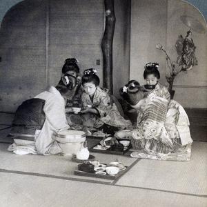 Geishas at Dinner, Tokyo, Japan, 1904 by Underwood & Underwood
