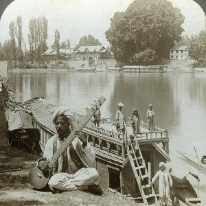 Houseboat Party, Jhelum River, Kashmir, India, C1900s by Underwood & Underwood