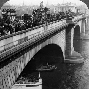 London Bridge, London, C Late 19th Century by Underwood & Underwood