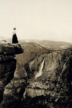 Looking across the Valley to Yosemite Falls, USA, 1917 by Underwood & Underwood