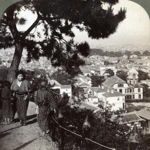 Looking South-East from the Pine Crowned Heights of Suwa-Yama over Kobe, Japan, 1904 by Underwood & Underwood