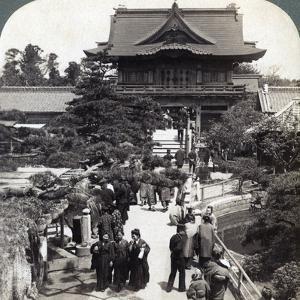 Main Gateway to Kameido Temple, Tokyo, Japan, 1904 by Underwood & Underwood