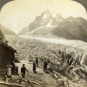 Mer De Glace from the 'Chapeau, Near Chamonix, France by Underwood & Underwood