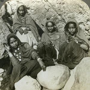 Native 'Bhujji' Girls, River Sutlej, Himalayas, India, C1900s by Underwood & Underwood