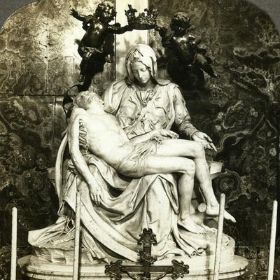 Pieta by Michelangelo, St Peter's Basilica, Rome, Italy