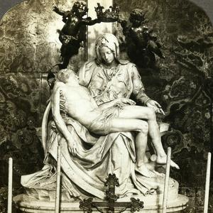 Pieta by Michelangelo, St Peter's Basilica, Rome, Italy by Underwood & Underwood