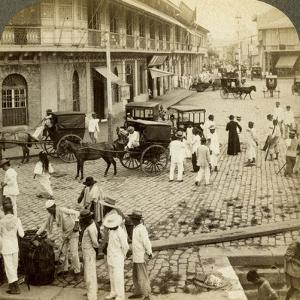 Rosario Road and Binondo Church, Manila, Philippines by Underwood & Underwood