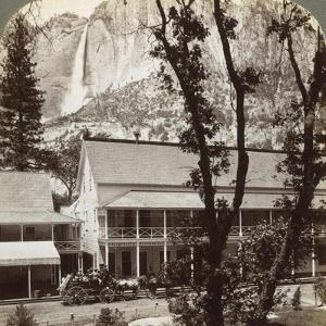 Sentinel Hotel, Looking North across the Valley to Yosemite Falls, California, USA, 1902 by Underwood & Underwood