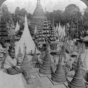 Shwedagon Pagoda, Rangoon, Burma, C1900s by Underwood & Underwood