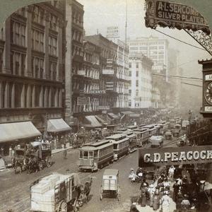 State Street, Chicago, Illinois, USA, 1908 by Underwood & Underwood