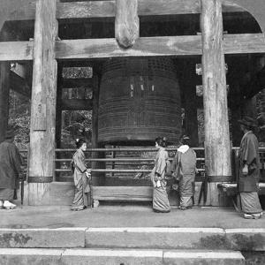 The Great Bell of Chion-In Temple, Kyoto, Japan, 1904 by Underwood & Underwood