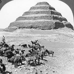 The Pyramid of Sakkarah, Egypt, 1905 by Underwood & Underwood