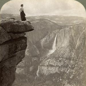 View from Glacier Point, Yosemite Valley, California, USA, 1902 by Underwood & Underwood