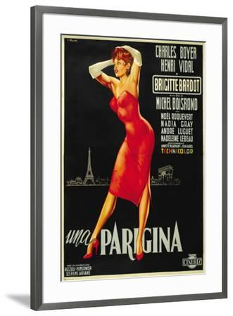 Une Parisienne - Italian Style--Framed Poster